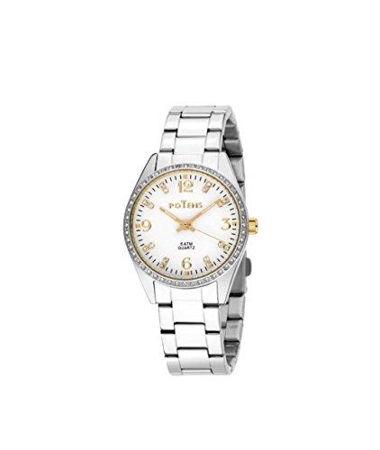 Potens 40-2764-0-0, Reloj de mujer, acero y circonitas: Amazon.es: Relojes