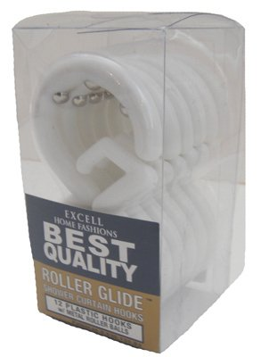 Curt Rod - Ex-Cell Shower Curtain Rings Plastic Wht