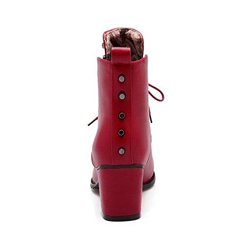 1TO9 - Sandali con Zeppa donna, Rosso (Red), 35 EU