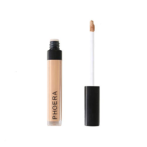 Fullfun PHOERA Instant Invisible Winkles and Flaws Makeup Concealer Liquid Moisturizer Conceal HD High Definition Foundation (D) (Best Hd Foundation 2019)