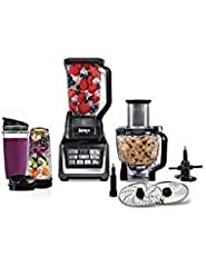 Want healthy meals and drinks? The Nutri Ninja Mega kitchen system blender has specialty blades, 1200 watts, an Auto-iQ system for precision-timed blending, and the power to extract all nutrients. Total crushing technology total crushing deli...