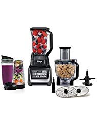 Ninja Mega Kitchen System, 1200 Watts, Blending and Food Processing, 1 Base 2 Functions Auto-iQ Technology