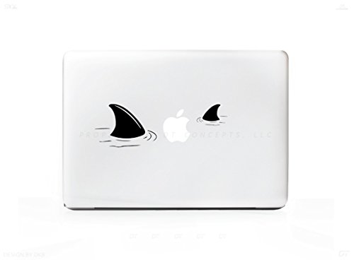 shark laptop decal - 3