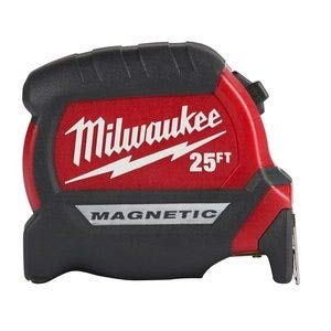 Milwaukee Electric Tool 25Ft Compact Magnetic Tape Mea (Tape Measure Magnetic)