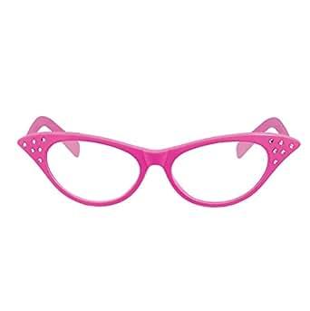 Rimi Hanger Adult Dame Pink Frame Glasses with Clear Lens