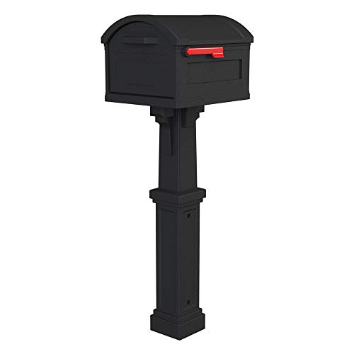 Gibraltar Mailboxes GHC40B01 Grand Haven Decorative Package Mailbox, Black
