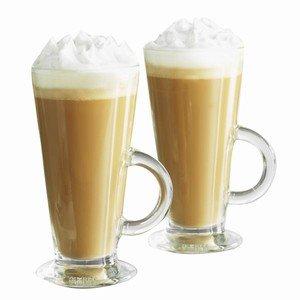 entertain latte glasses 9 2oz 260ml pack of 2 handled latte