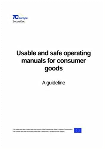 Usable and safe operating manuals for consumer goods