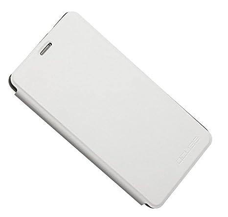 PREVOA ® Flip PU Funda Cover Case < caso duro adentro > Protictive Carcasa para Cubot MAX - 4G LTE Smartphone - (Blanco)