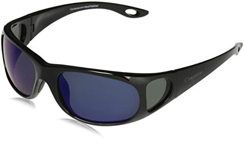 Coyote Eyewear P-22 Sportsman's P-Series Polarized Fishing Sunglasses, Black/Blue Mirror