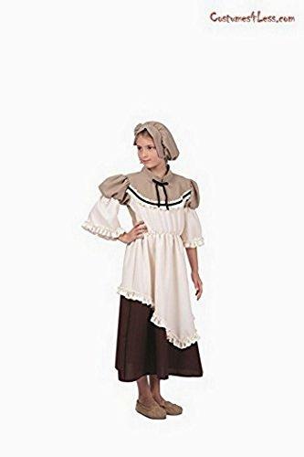 Deluxe Colonial Peasant Girl Child Costume (Child Medium) (Adult Peasant Costume)