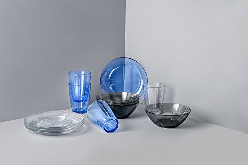 Kosta Boda 7015535 Bruk Brunch Set, Clear (Kosta Glass Plates Boda)