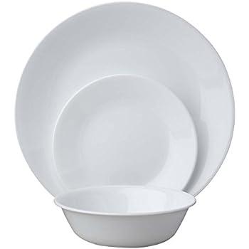 Corelle Livingware 18-Piece Dinnerware Set Winter Frost White Service for 6  sc 1 st  Amazon.com & Amazon.com | Corelle Livingware 16-Piece Dinnerware Set Winter ...