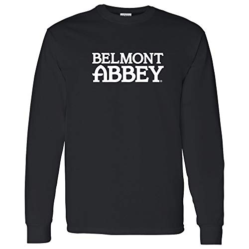 AL01 - Belmont Abbey College Crusaders Basic Block Long Sleeve - Small - Black ()