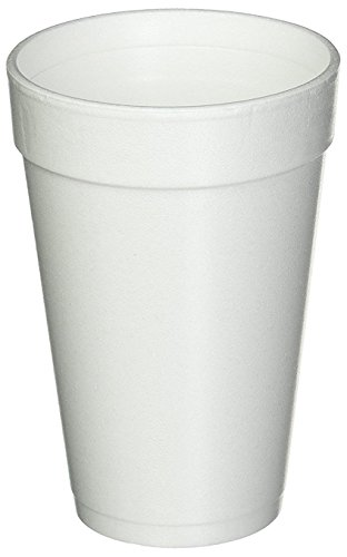 Dart 16 Oz. White Disposable Drink Foam Cups Hot and Cold Coffee Cup (Pack of 40)