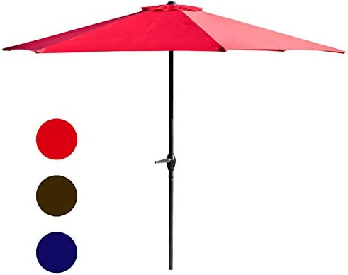 LOKATSE HOME Table Outdoor Market Patio Umbrella