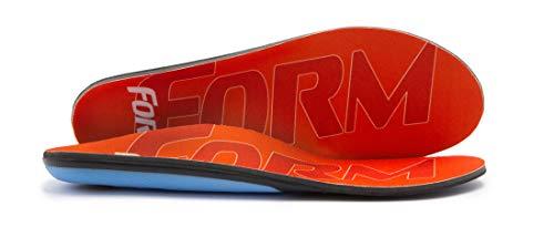 FORM Premium Insoles Reinforced | Orange Men's 10 - 10.5, Women's 11.5 - 12