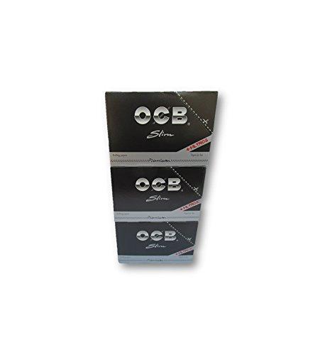 OCB 巻紙 タバコ紙 喫煙用紙 ローリングペーパーフィルター BLACK PREMIUM SLIM ROLLING PAPERS + FILTER TIPS Pack Of 96 Booklets from SUDESH ENTERPRISES   B07BQVN1LV