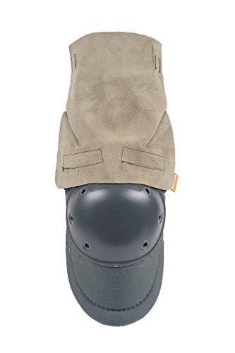 ALTA 50910 AltaPRO Welder Knee Protector Pad, Gray Cordura Nylon Fabric, Suede Apron, AltaGrip Fastening, Hard Cap, Round, (Cordura Apron)