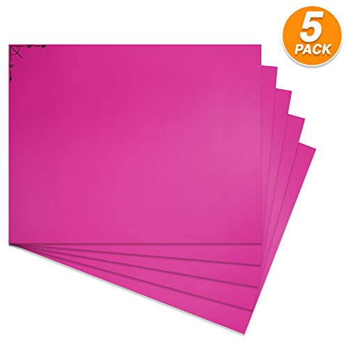 Emraw Poster Board Lightweight Craft Backing Boards for Presentations Office Sign Blank Painting Board Smooth Surface Poster Sheets for School Pack of 5 (Magenta)