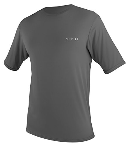 (O'Neill Men's Basic Skins Upf 30 + Short Sleeve Sun Shirt, Graphite, Large)