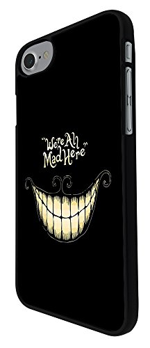 "000188 - Cool Fun Funky Funny We Are All Mad Here Design iphone 7 4.7"" Hülle Fashion Trend Case Back Cover Metall und Kunststoff - Schwarz"