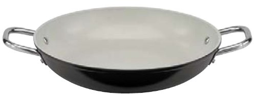 - Paderno World Cuisine 9-1/2-Inch Ceramic Coated Paella Pan