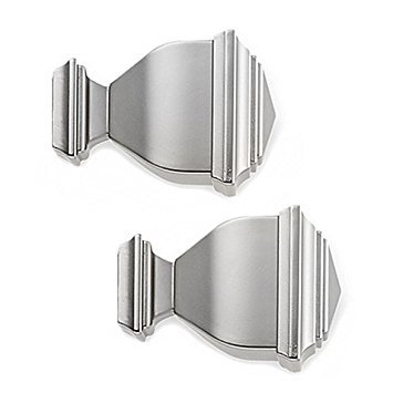 Cambria Premier Complete Napoleon Finial in Brushed Nickel (Set of 2)