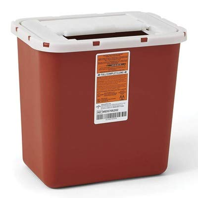 Sharps 8-Quart Biohazard Disposal Container (6 Pack)