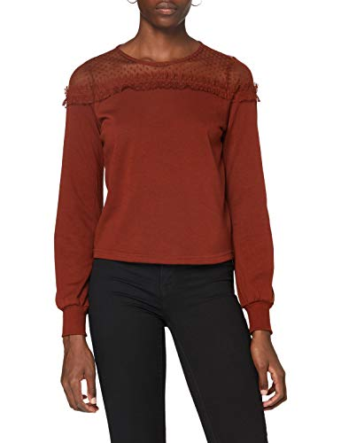 ONLY ONLCHERRY L/S MESH O-NECK SWT dames sweater