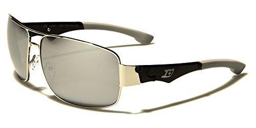 conduite Noir soleil Protection beachhutsunglasses parfait GRATUIT dxtreme aviateur miroir Gris Argent rectangle pour poche ou UV400 inclus de sport homme Lunettes Verres KcfP6fpO4q