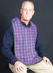 Flannel Adult Bib (2pk) Velcro Assorted Colors