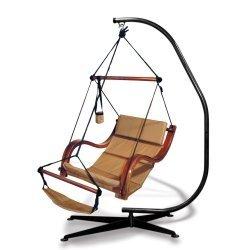Hammaka Suelo Stand and Natural Tan Nami Chair Combo