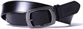 大きいサイズ ベルト メンズ ギャリソンバックル EDWIN 7L ビジネス カジュアル 黒 茶 春 夏 秋 冬