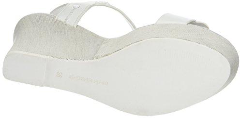 G-STAR RAW Claro Wedge, Women's Wedge Heels Sandals White (White 110)