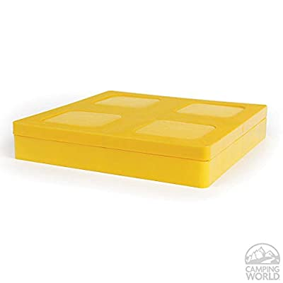Camco Durable Leveling Block Caps - Securely Fits on Top of Your Leveling Blocks to Create An Even Surface Without Increasing Stack Height - 4 Pack (44500): Automotive