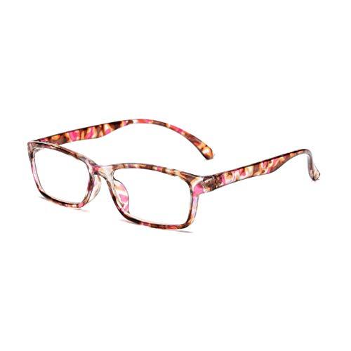 chuwa Reading Glasses Women Fashion HD Blue Light Blocking Eye Glasses Floral Print Readers +1.0 ~ +4.14 (Big Fashion Lesebrille)
