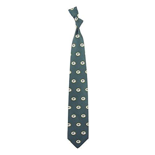 Eagles Wings NFL Green Bay Packers Men's Print Silk Prep Necktie, One Size, Multicolor (Packers Tie Bay Green Silk)