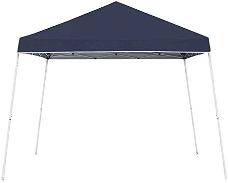 Z-Shade 10 x 10 Foot Angled Leg Taffeta Peak Style Canopy with Carry Bag, Navy