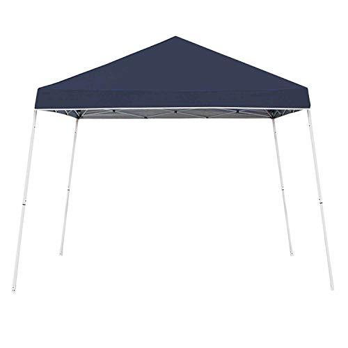 Z-Shade 10 x 10 Foot Angled Leg Taffeta Peak Style Canopy with Carry Bag, Navy (Walmart Patio Gazebo)