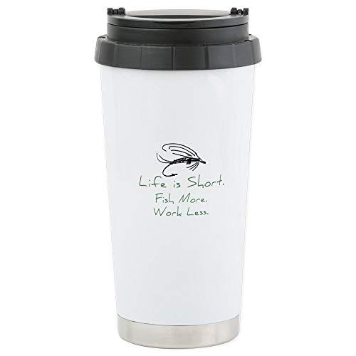 CafePress Fly Fishing Stainless Steel Travel Mug Stainless Steel Travel Mug, Insulated 16 oz. Coffee Tumbler
