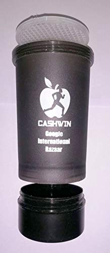 CASHWIN Gym Shaker Pro Cyclone Shaker 600ml with Extra Compartment, 100% Leak-Proof Guarantee, Ideal for Protein, Pre… 2021 July
