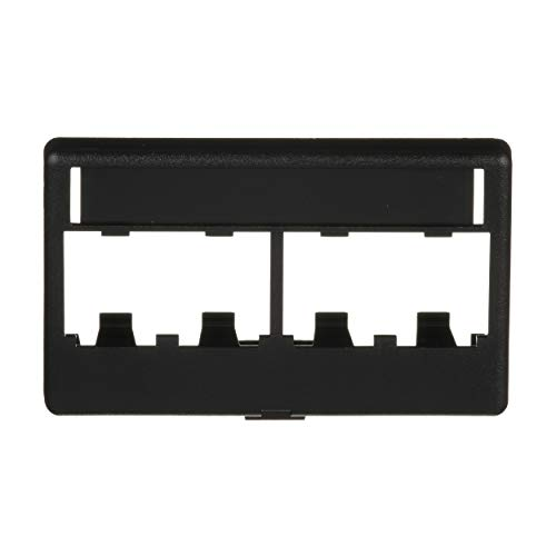 - Panduit CFFPL4BL Snap-On 4-Port Modular Furniture Faceplate, Black