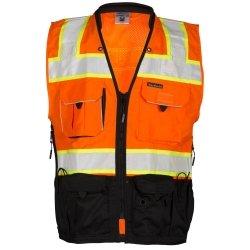 ML Kishigo Premium Black Series Surveyors Vest 3XL Orange