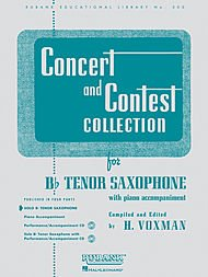 (Hal Leonard Concert And Contest Collection B Flat Tenor Saxophone Solo Part Only )