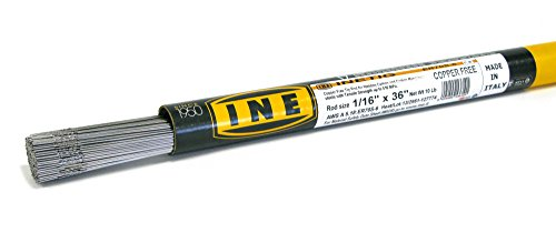 INETIG COPPER FREE ER70S-6 1/16 x 36-Inch on 10-Pound Tube Tig Rod for Welding Carbon Manganese Steels by INE
