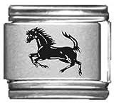 Horse Galloping Laser Italian Charm