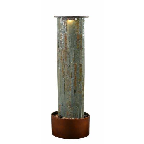 Kenroy Home 51019SLCOP Rainfall Floor Fountain, (Natural Slate Stone Fountain)