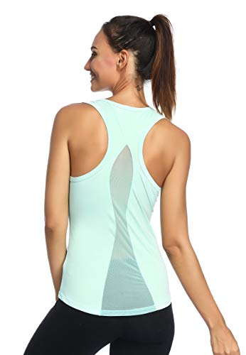 7ebf0631fb Aunis Women's Yoga Tank Top Activewear Workout Clothes Sleeveless Sexy  Sports Shirt