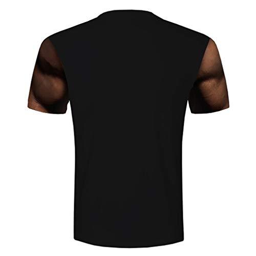 Manche Noir Imprimer 1 Casual Cher Blouse Ete Courte À 8 Homme Muscle 3d T Pas Pattern Stéréo Imprimé Sexy Tee Shirt Top Style Winjin shirt Cwf7Sgvxq
